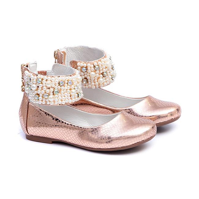 Sapato Tornozeleira Cobre