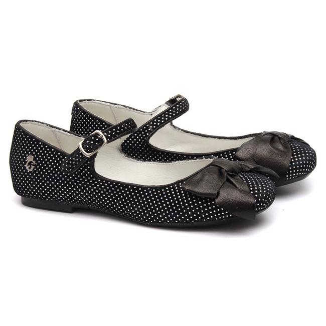 Sapato de Laço Veludo Poa Gats