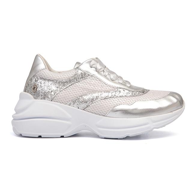 Tênis Sneaker Prata Feminino Infantil Gats