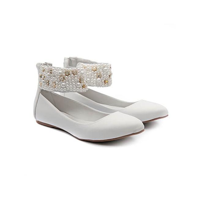 Sapato de Tornozeleiras Baby Branco