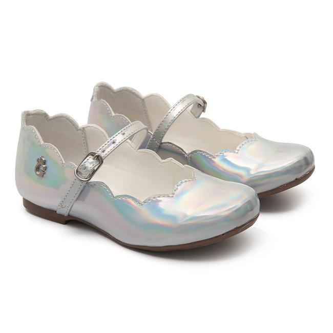 Sapato Nuvem Espelhado Holográfico Prata