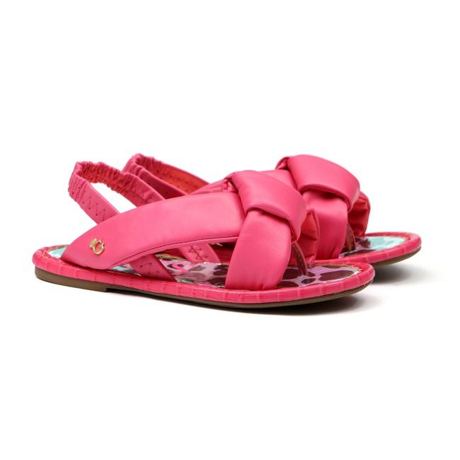 Sandália de Laço Rosa Infantil Gats
