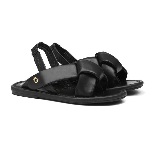 Sandália de Laço Preto Infantil Gats