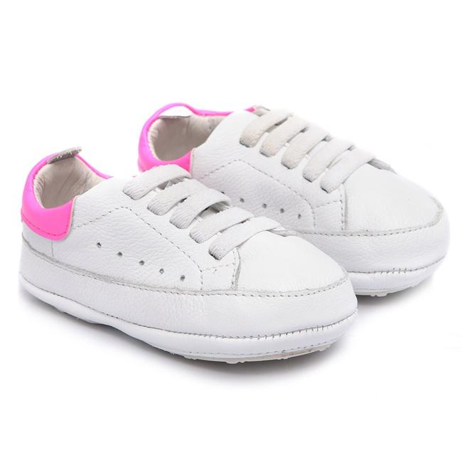 Tênis de Bebê Branco com Pink Gats