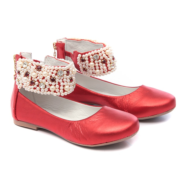 Sapato de Tornozeleiras Vermelho Infantil Gats