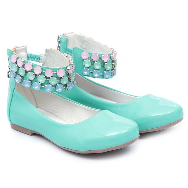 Sapato de Tornozeleiras Verde Infantil Gats