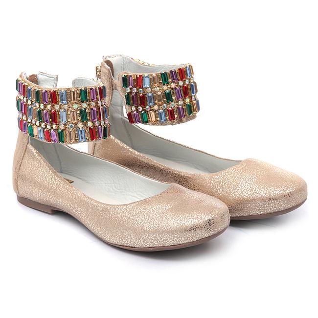 Sapato de Tornozeleiras Pedraria Infantil Gats