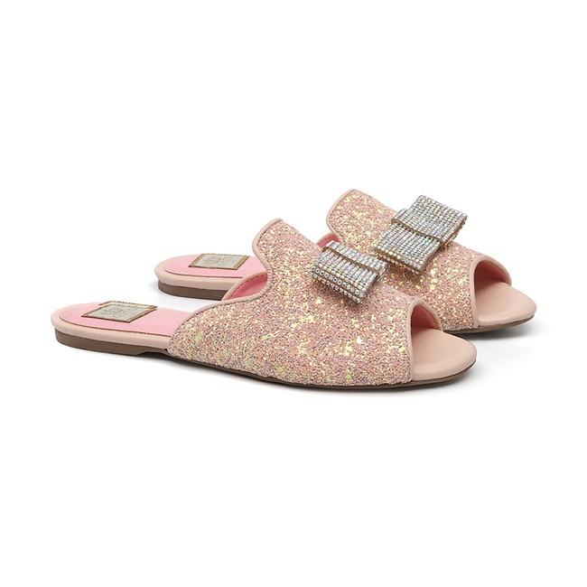 Slide Glitter Rosa