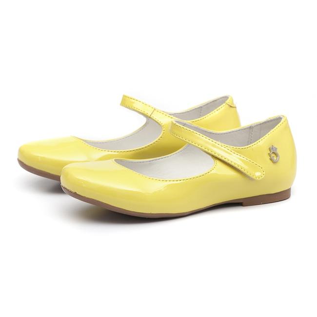 Sapatilha Boneca Verniz Amarelo
