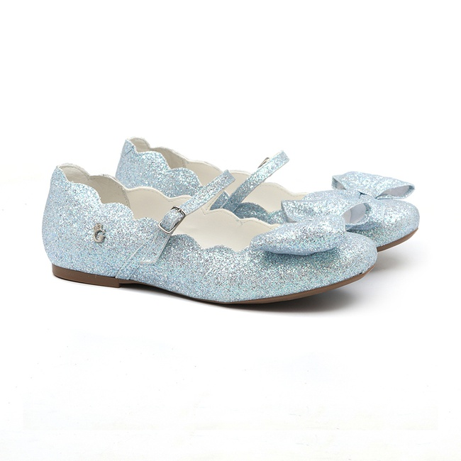 Sapatilha Laço Nuvem Glitter Azul