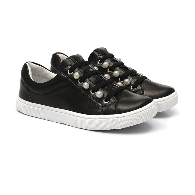 Tênis Sneaker Pérolas Preto