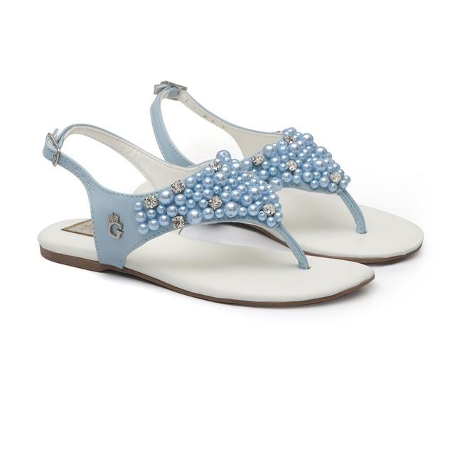 Sandália Bordada Azul