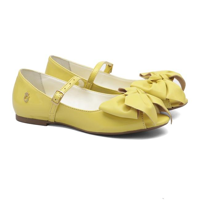 Peep Toe Laço Amarelo