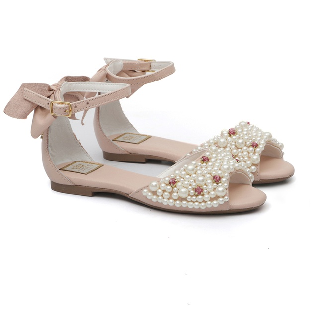 Peep Toe Bordado Blush