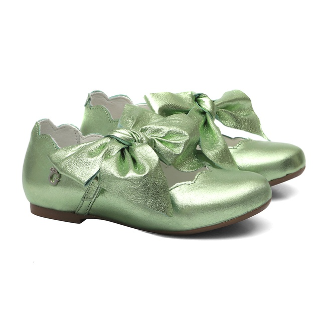 Sapatilha Nuvem Laço Verde