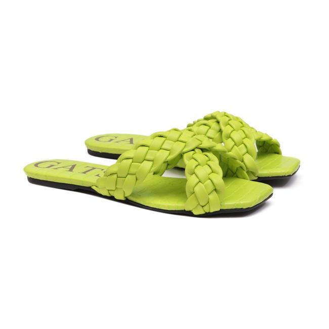 Flat Trançado Verde Infantil Gats - 8006