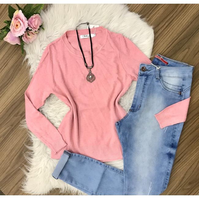 Blusa Trico Lisa - Rosa