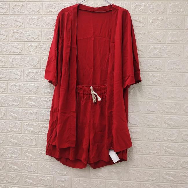 Conjunto Kimono Vermelho