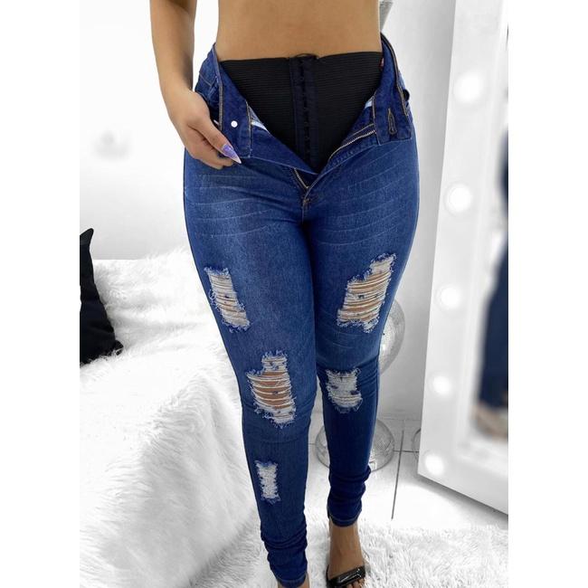 Calça Jeans Melinda c/ Cinta Modeladora - Azul médio