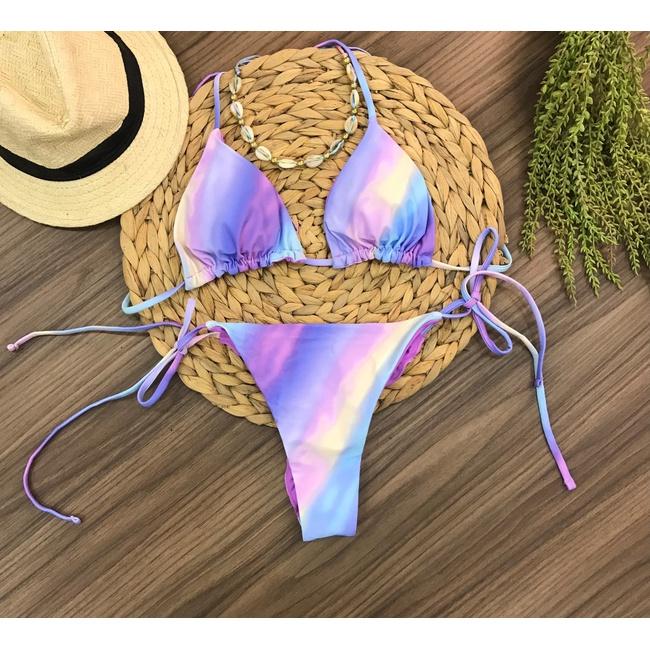 Conjunto Biquíni Tie Dye Lilás