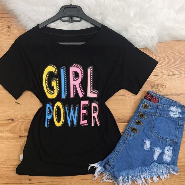 Blusa Preta - Girl Power