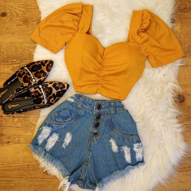 Cropped Amarelo