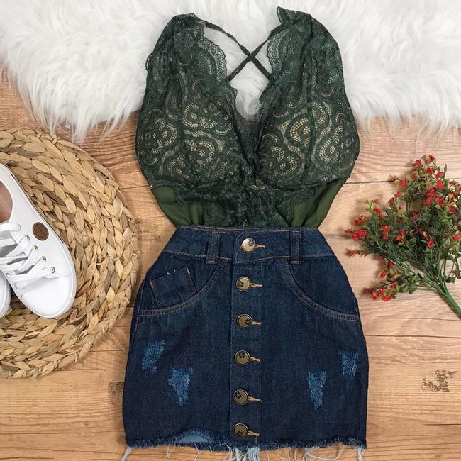 Body Renda Verde