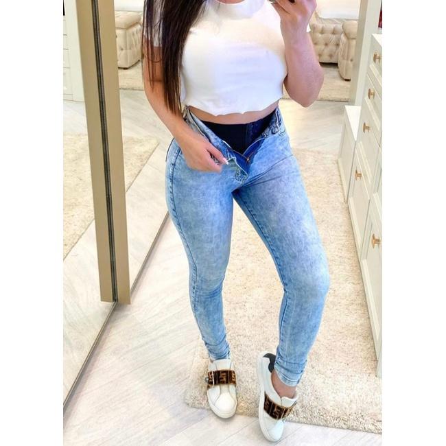 Calça Jeans Melinda|com Cinta Modeladora| - Cor Claro