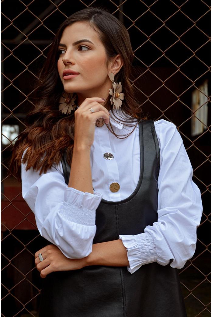 Camisa tricoline punho lastex Blessed - DBoneca