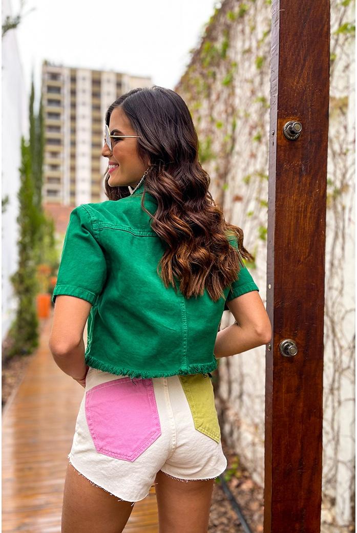 Short alto color alcance jeans - DBoneca