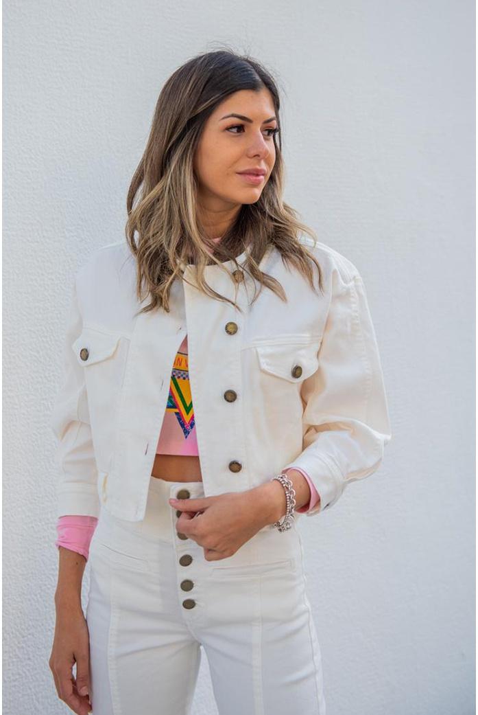 Jaqueta sarja branca vida bela - DBoneca