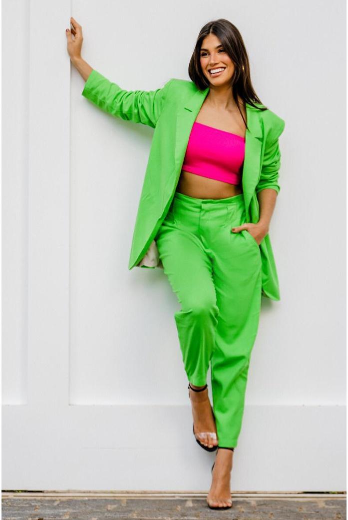 Calça linho verde vida bela - DBoneca