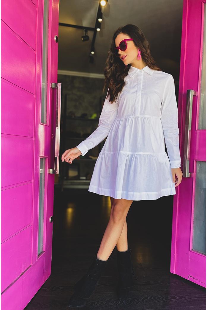 Vestido tricoline vida bela - DBoneca
