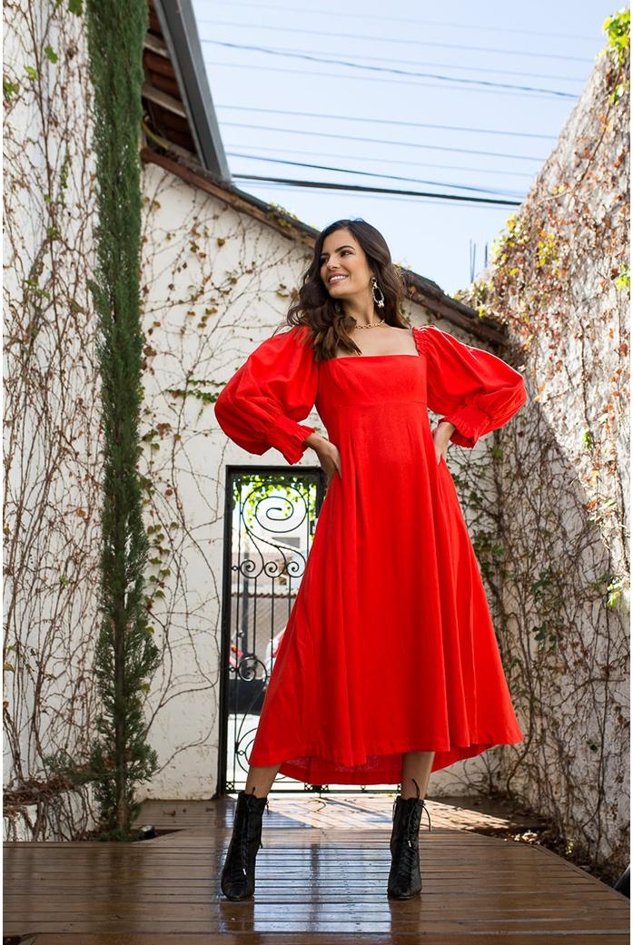 Vestido Vermelho Farm - DBoneca