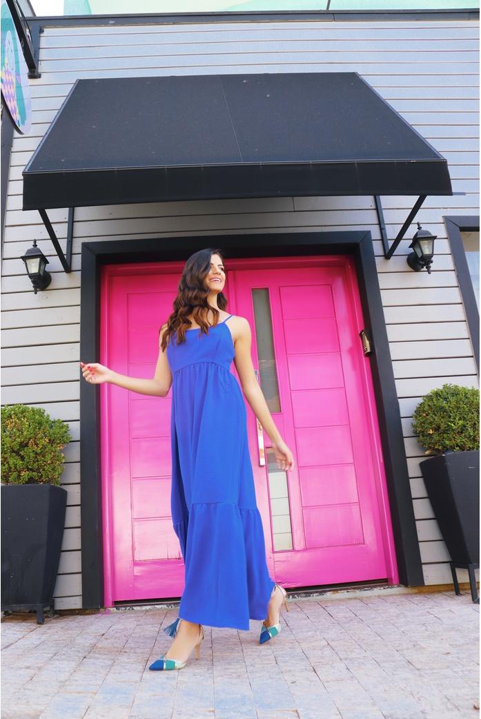 Vestido mide azul vida bela - DBoneca