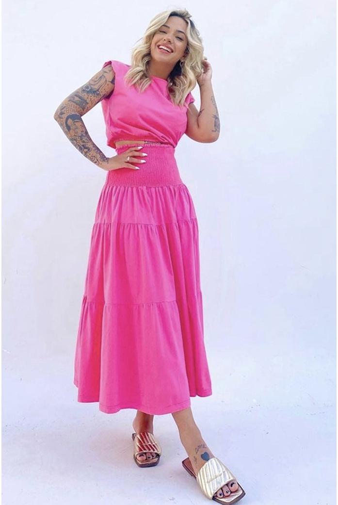 Conjunto Maria rosa Alcance jeans - DBoneca