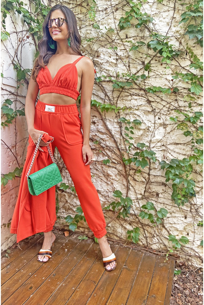 calca malha arizona laranja blessed - DBoneca