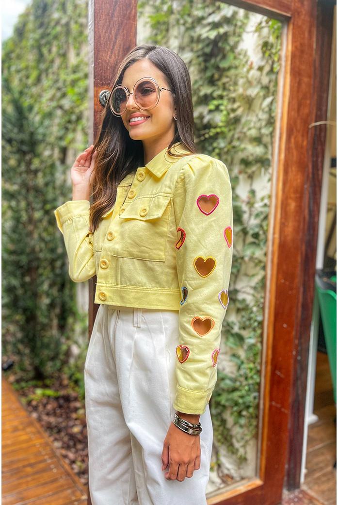 Jaqueta Salgunamu amarela - DBoneca