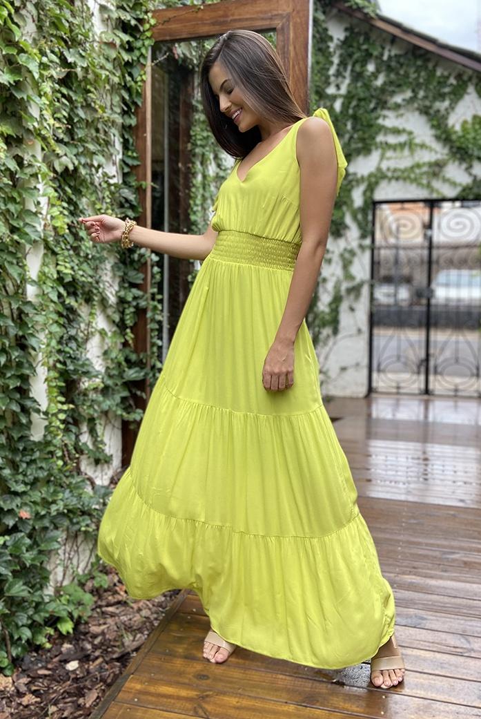 Vestido Froz Dany Verde Claro - DBoneca