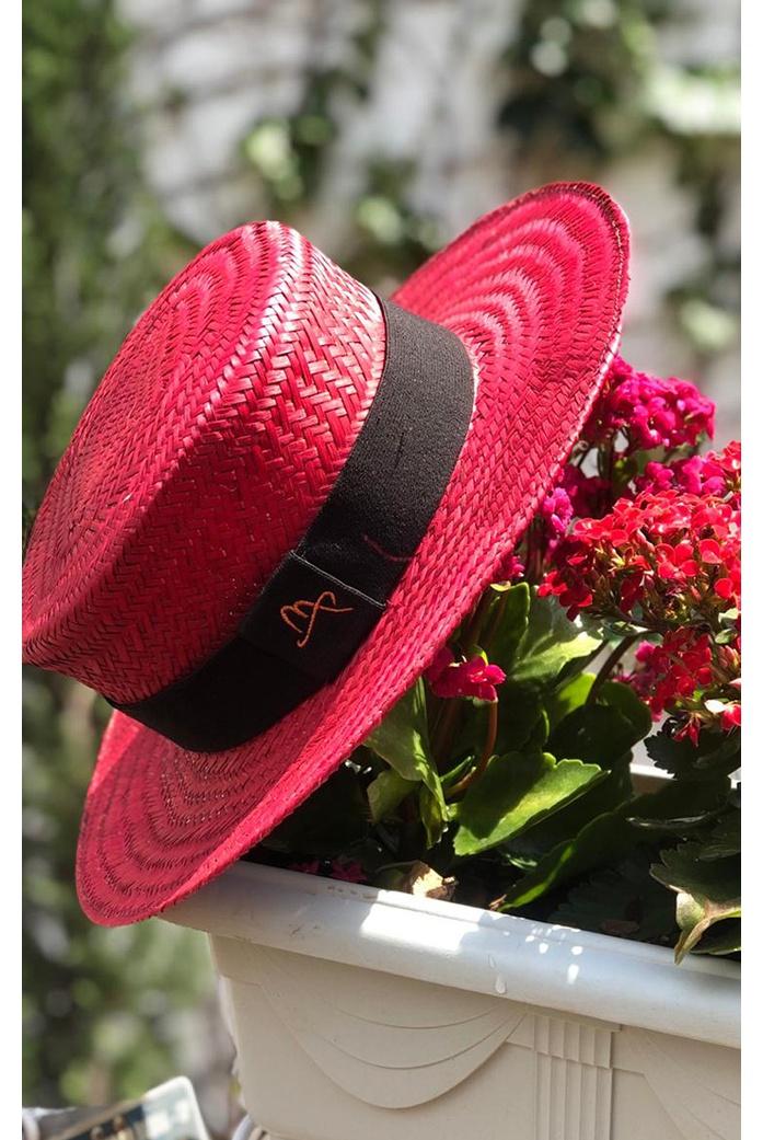 Chapéu Malu Paris Vermelho Aba 7 - DBoneca