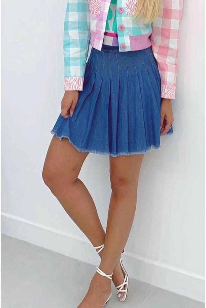 Mini Salgunamu Saia Jeans - DBoneca
