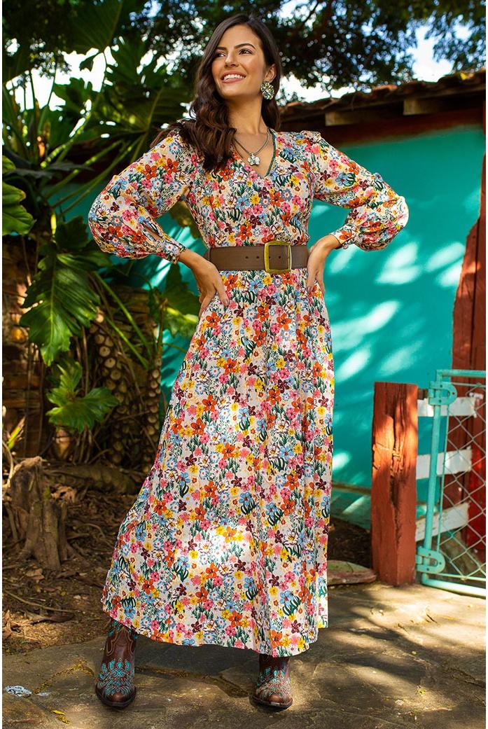 Vestido colombiano linda de morrer - DBoneca