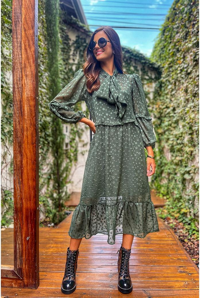 Vestido Blessed Midi PoÁ Adriana - DBoneca