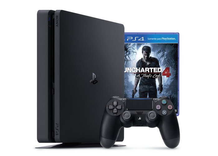 PS4 - Playstation 4 Slim 500GB + Uncharted 4
