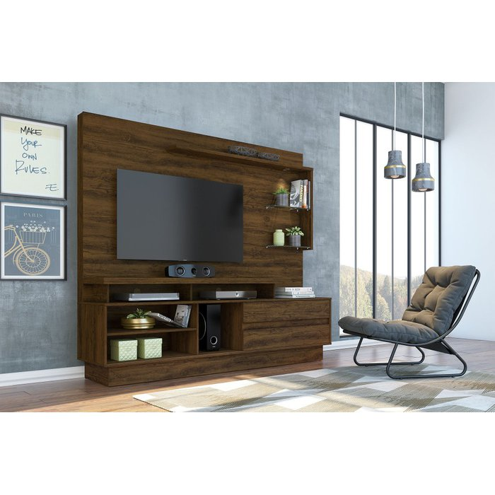"Estante Home Theater Madetec Vicente até 60"" Savana"