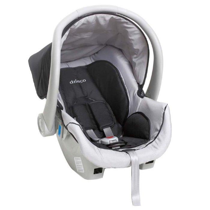 Bebê Conforto Dzieco Cocoon Preto/Cinza - Dispositivo de Retenção Até 13kg