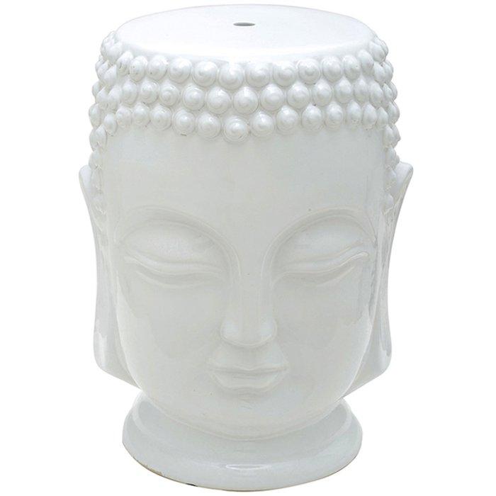 Garden / Tamborete Rivatti Buda em Cerâmica Branco