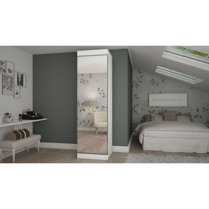 Sapateira Gelius Esmeralda 1 Porta Branco com Espelho