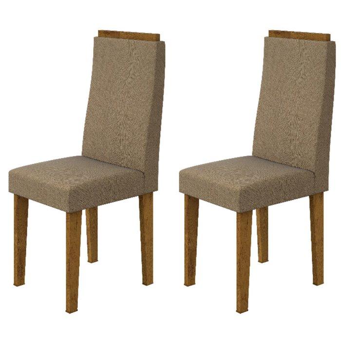 Cadeira Lopas Dafne 100% MDF Suede Animale Rovere Soft 95 - 2 Peças