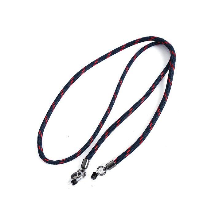 Cordão de Óculos Náutico Marinho com Vermelho   MANTOAN LOJA 18b9839512